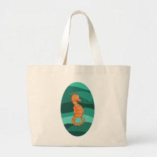Seahorse de la natación bolsa tela grande