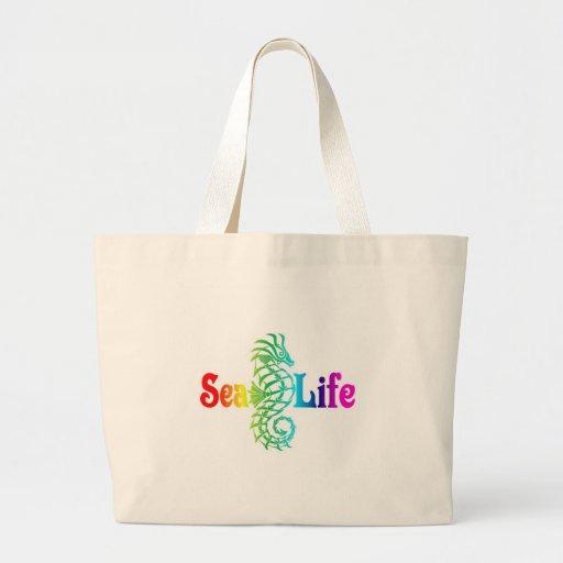 Seahorse de la vida marina bolsa