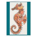 Seahorse de Paisley Tarjeta De Felicitación