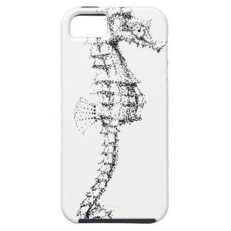 Seahorse de Pointilism iPhone 5 Protectores