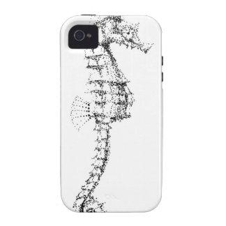 Seahorse de Pointilism iPhone 4 Funda