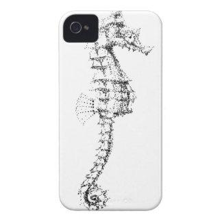 Seahorse de Pointilism iPhone 4 Carcasas