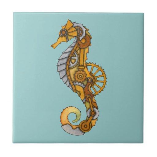 Seahorse de Steampunk Azulejos