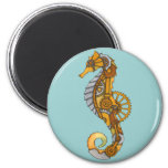 Seahorse de Steampunk Imán De Frigorífico