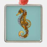 Seahorse de Steampunk Ornamento De Navidad