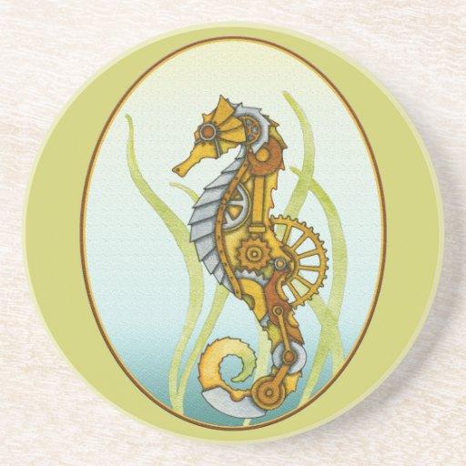 Seahorse de Steampunk Posavasos Personalizados