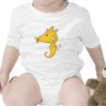 Seahorse del bebé trajes de bebé