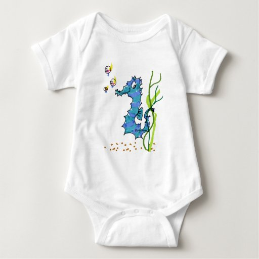 Seahorse del dibujo animado lindo body para bebé