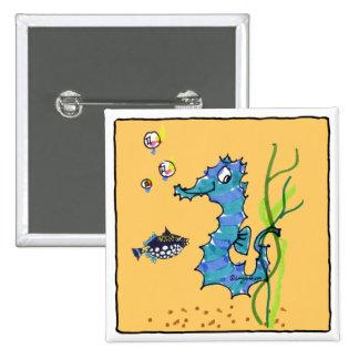 Seahorse del dibujo animado lindo pins