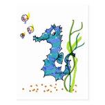 Seahorse del dibujo animado lindo postal