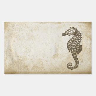Seahorse del vintage rectangular altavoz