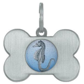 Seahorse del vintage placa de mascota