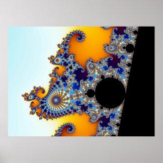 Seahorse determinado del fractal de Mandelbrot Poster