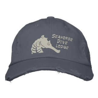 Seahorse Dive Lodge Embroidered Hat