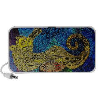 Seahorse doodle speaker