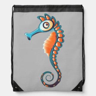 Seahorse Drawstring Bag