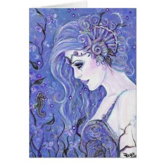 Seahorse dreams greeting card by Renee Lavoie