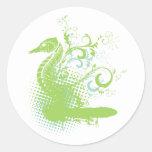 seahorse elegante etiquetas redondas