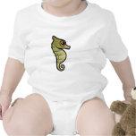 Seahorse enano lindo traje de bebé