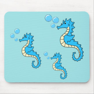Seahorse Family Mouse Pad