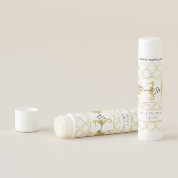 Beach Themed Seahorse Faux Gold Nautical Birthday Party Favor Lip Balm