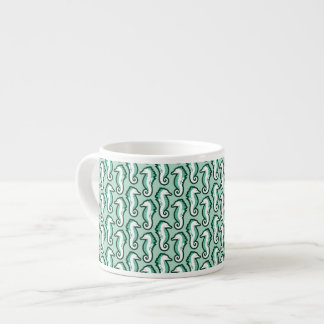 Seahorse Frolic Espresso Mug - Green