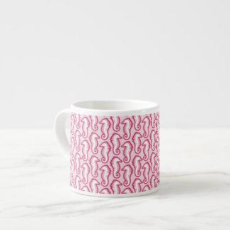 Seahorse Frolic Espresso Mug - Pink