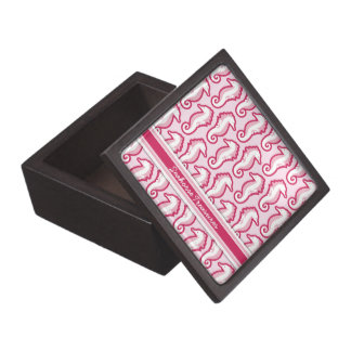 Seahorse Frolic Gift Box - Pink Premium Trinket Box