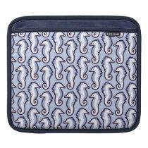 Seahorse Frolic iPad/ iPad 2 Sleeve - Blue