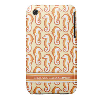 Seahorse Frolic iPhone 3G Barely There - Orange Case-Mate iPhone 3 Case