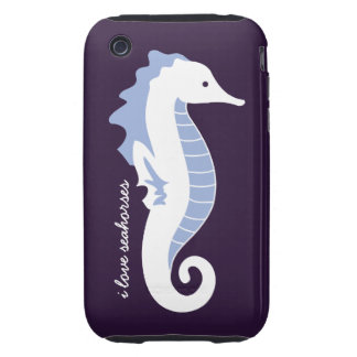 Seahorse Frolic iPhone 3G Case-Mate Tough - Blue iPhone 3 Tough Cases
