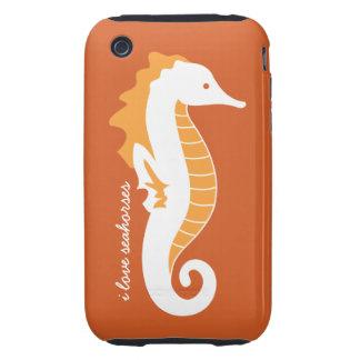 Seahorse Frolic iPhone 3G Case-Mate Tough - Orange Tough iPhone 3 Cases