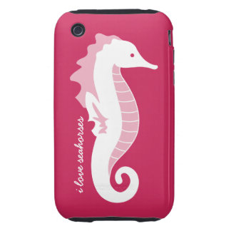 Seahorse Frolic iPhone 3G Case-Mate Tough - Pink Tough iPhone 3 Cover