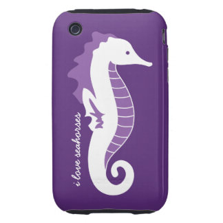 Seahorse Frolic iPhone 3G Case-Mate Tough - Purple Tough iPhone 3 Cover
