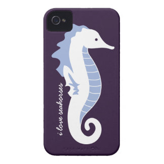 Seahorse Frolic iPhone 4/4S Barely There - Blue iPhone 4 Cases