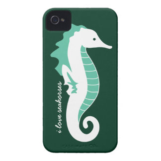 Seahorse Frolic iPhone 4/4S Barely There - Green iPhone 4 Covers