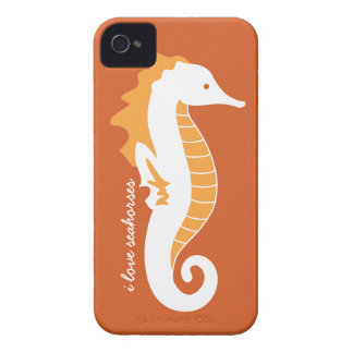 Seahorse Frolic iPhone 4/4S Barely There - Orange iPhone 4 Case-Mate Cases