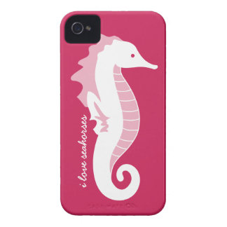 Seahorse Frolic iPhone 4/4S Barely There - Pink iPhone 4 Cover