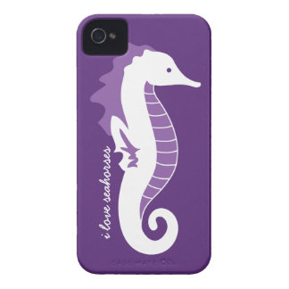 Seahorse Frolic iPhone 4/4S Barely There - Purple iPhone 4 Cases
