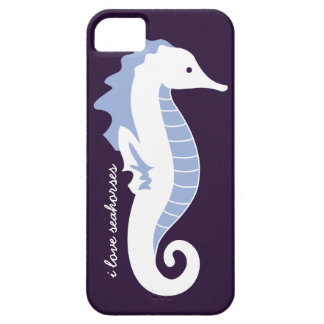 Seahorse Frolic iPhone 5 Barely There Case - Blue iPhone 5 Cover