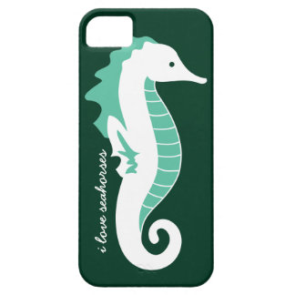 Seahorse Frolic iPhone 5 Barely There Case - Green iPhone 5 Cases