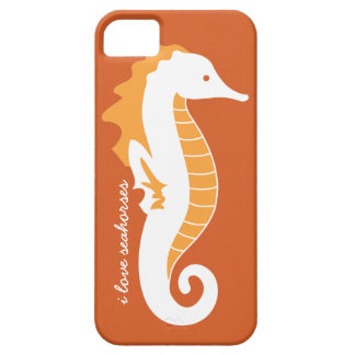 Seahorse Frolic iPhone 5 Barely There - Orange iPhone 5 Cover