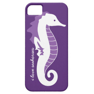 Seahorse Frolic iPhone 5 Barely There - Purple iPhone 5 Case