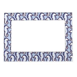 Seahorse Frolic Magnetic Frame - Blue