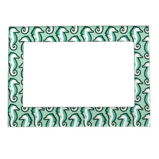 Seahorse Frolic Magnetic Frame - Green