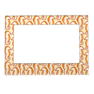 Seahorse Frolic Magnetic Frame - Orange