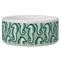 Seahorse Frolic Pet Bowl - Green