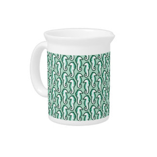 Seahorse Frolic Pitcher - Green