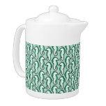 Seahorse Frolic Teapot - Green