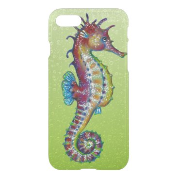 Beach Themed Seahorse Green Lime iPhone 7 Case